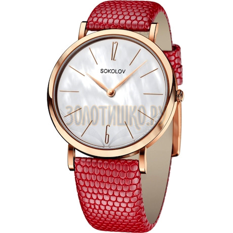 Женские золотые часы 204.01.00.000.06.04.2