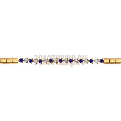 Браслет из золота с бриллиантами и сапфирами 2050025