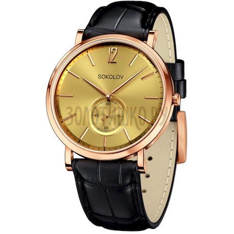 Мужские золотые часы 209.01.00.000.04.01.3