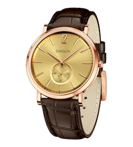 Мужские золотые часы 209.01.00.000.04.02.3