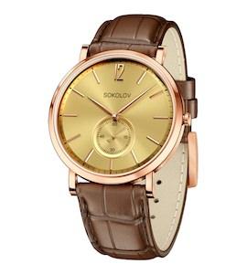 Мужские золотые часы 209.01.00.000.04.03.3