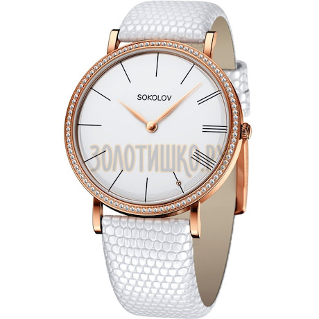 Женские золотые часы 210.01.00.001.01.02.2