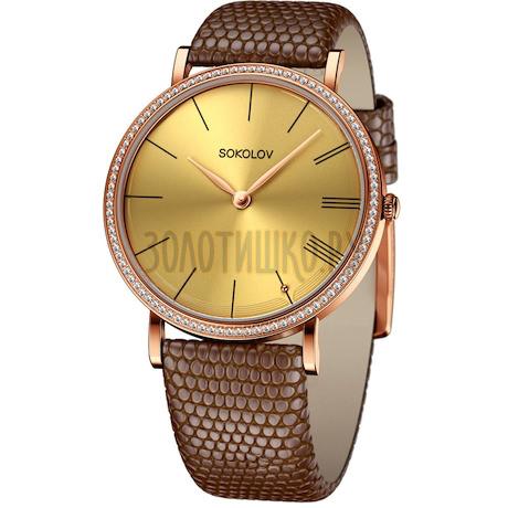 Женские золотые часы 210.01.00.001.03.03.2