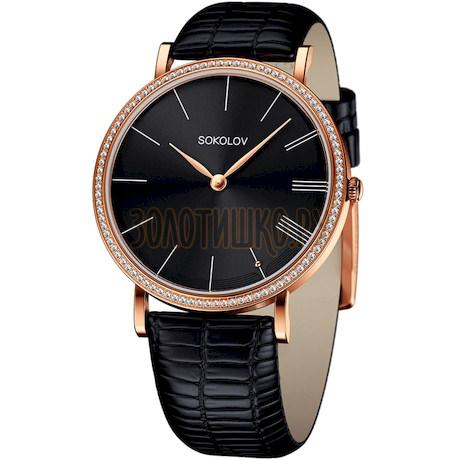 Женские золотые часы 210.01.00.001.04.01.2