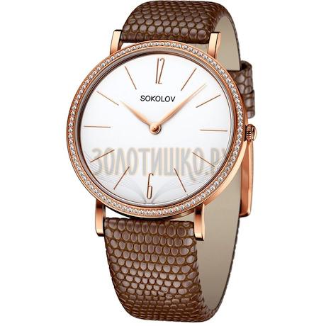 Женские золотые часы 210.01.00.001.05.03.2
