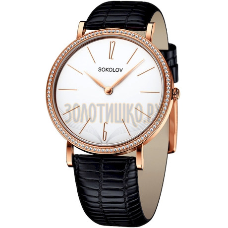 Женские золотые часы 210.01.00.100.05.01.2