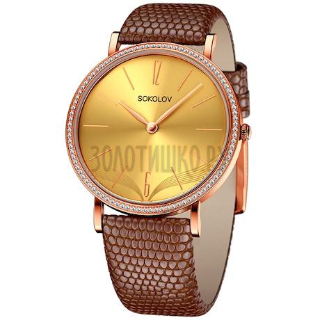Женские золотые часы 210.01.00.100.07.03.2
