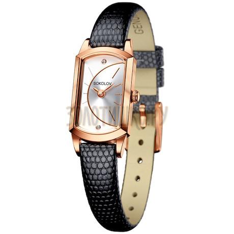 Женские золотые часы 221.01.00.000.04.01.3