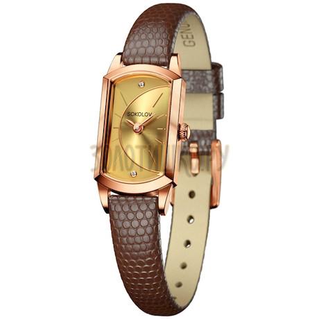 Женские золотые часы 221.01.00.000.05.03.3