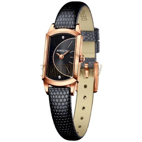 Женские золотые часы 221.01.00.000.06.01.3