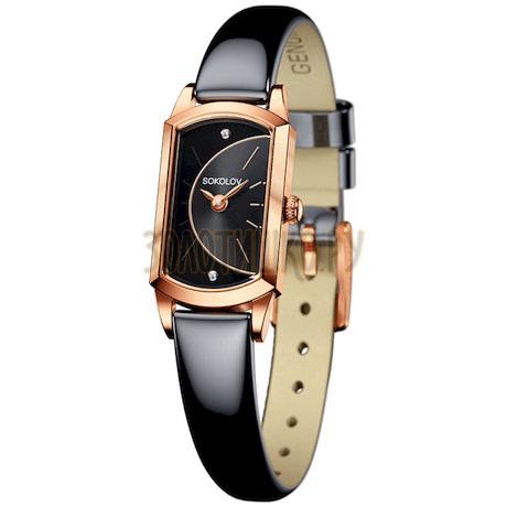 Женские золотые часы 221.01.00.000.06.05.3