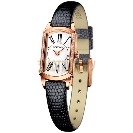 Женские золотые часы 222.01.00.001.01.01.3