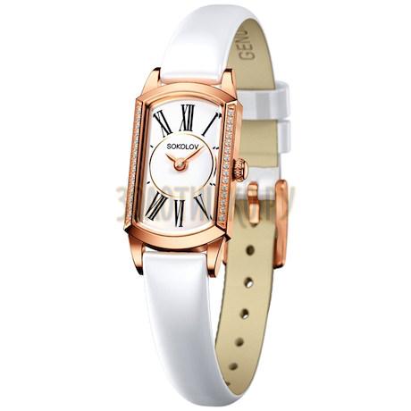 Женские золотые часы 222.01.00.001.01.06.3