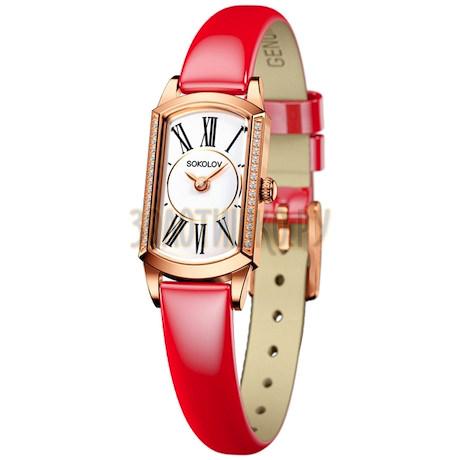 Женские золотые часы 222.01.00.001.01.07.3