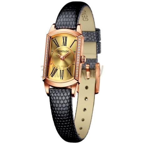 Женские золотые часы 222.01.00.001.02.01.3