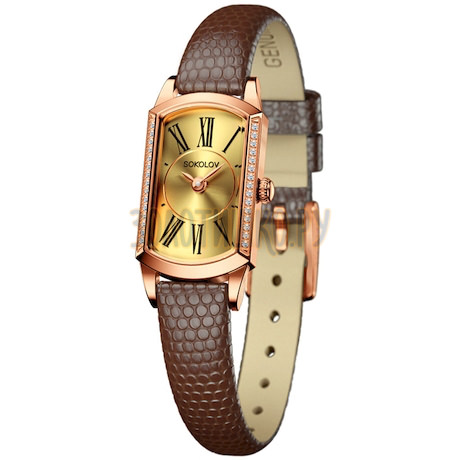 Женские золотые часы 222.01.00.001.02.03.3