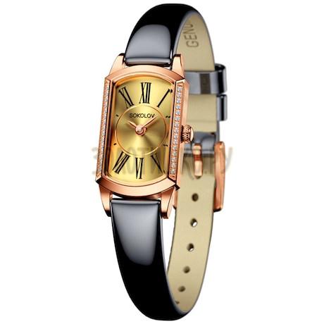 Женские золотые часы 222.01.00.001.02.05.3