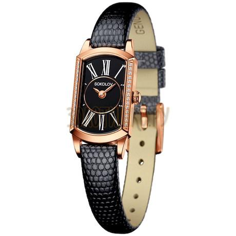 Женские золотые часы 222.01.00.001.03.01.3