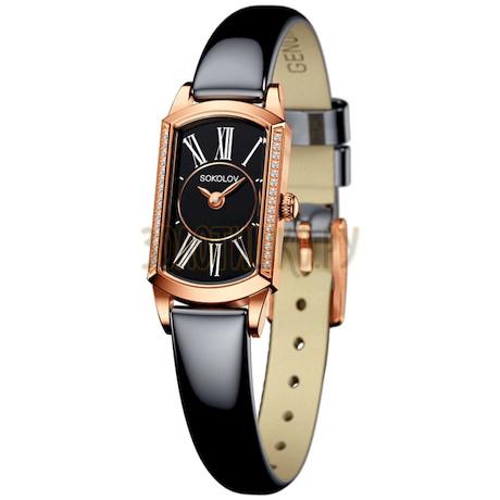 Женские золотые часы 222.01.00.001.03.05.3