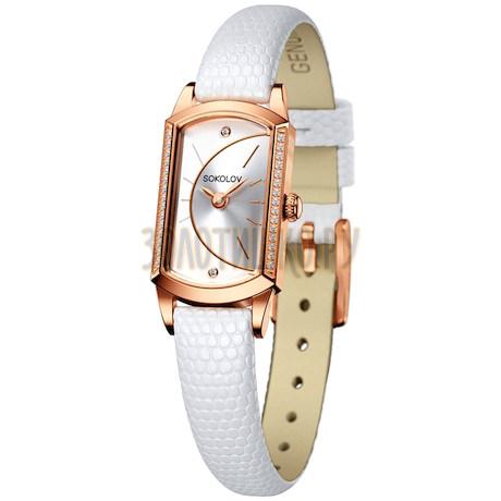 Женские золотые часы 222.01.00.001.04.02.3