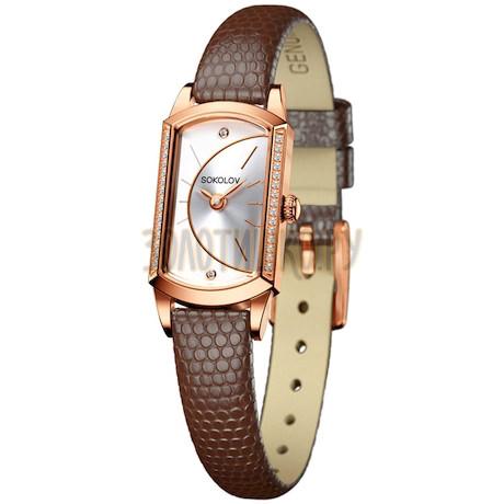 Женские золотые часы 222.01.00.001.04.03.3