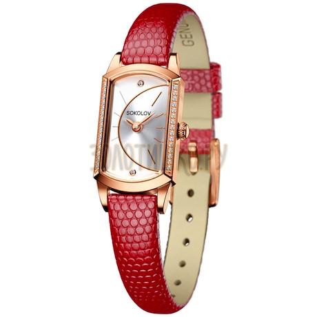 Женские золотые часы 222.01.00.001.04.04.3