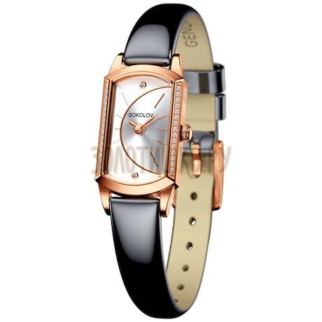 Женские золотые часы 222.01.00.001.04.05.3