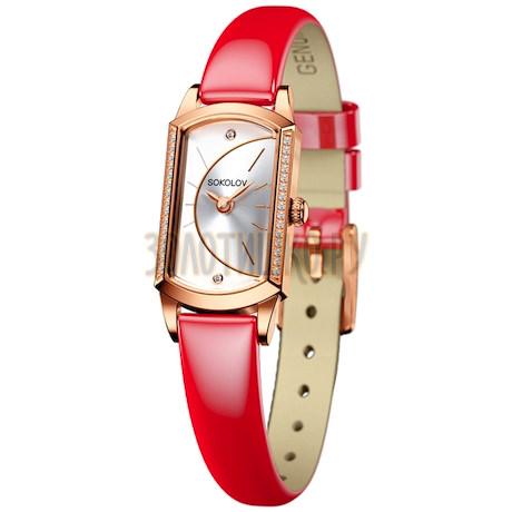 Женские золотые часы 222.01.00.001.04.07.3