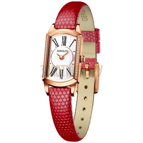 Женские золотые часы 222.01.00.100.01.04.3