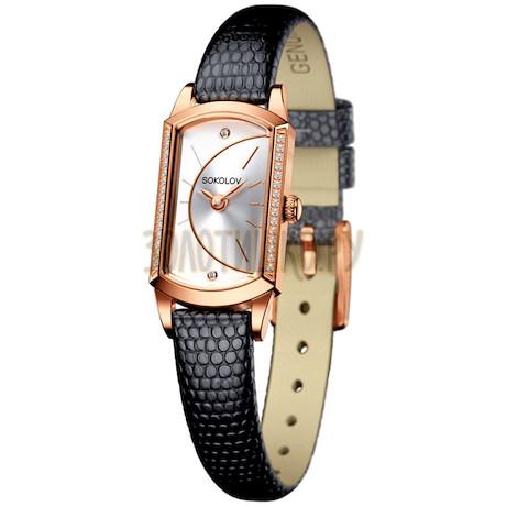 Женские золотые часы 222.01.00.100.04.01.3