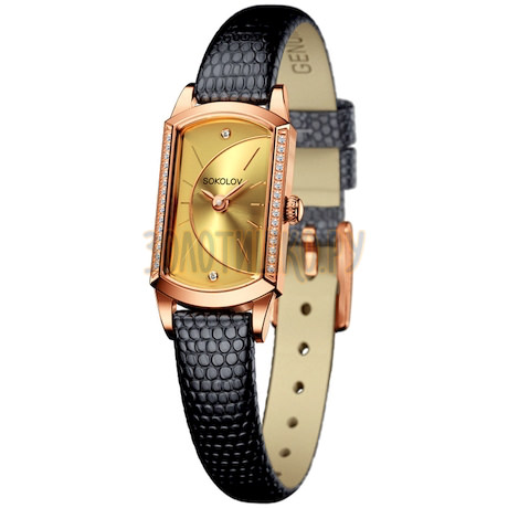 Женские золотые часы 222.01.00.100.05.01.3