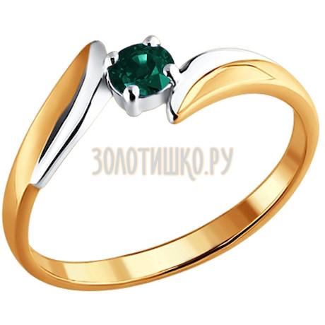 Кольцо из золота с изумрудом 3010031