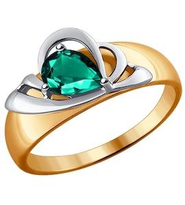 Кольцо из комбинированного золота с изумрудом 3010534
