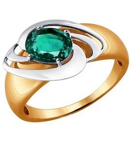Кольцо из комбинированного золота с изумрудом 3010537