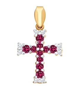 Женский золотой крестик 4120017