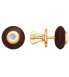 Серьги-пусеты из золота с бриллиантами 6025020