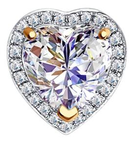 Подвеска-трансформер «Love» из золота с бриллиантами и топазом Swarovski 6036015