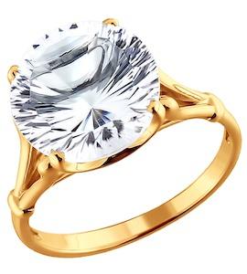 Перстень с горным хрусталём 711218