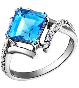 Белое кольцо с топазом 711354