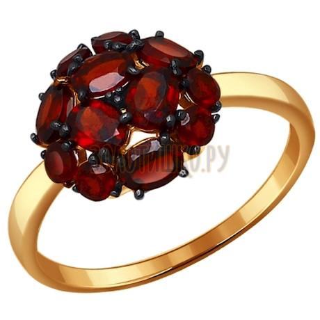 Кольцо из золота с гранатами 714096