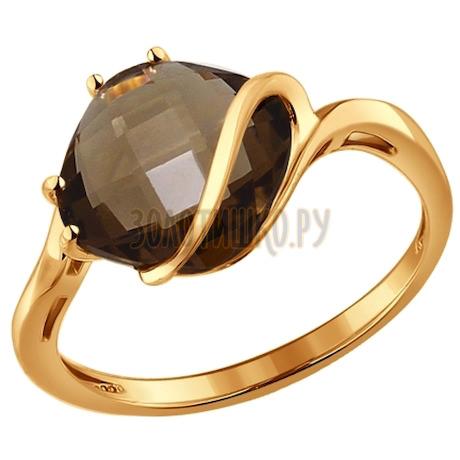 Кольцо из золота с раухтопазом 714138