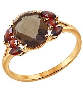 Кольцо из золота с полудрагоценными вставками 714176
