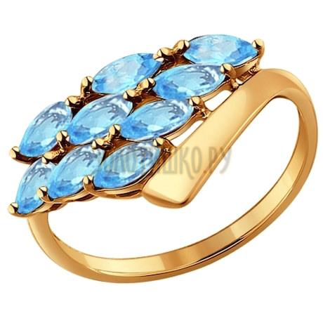 Кольцо из золота с топазами 714254