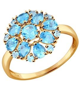 Кольцо из золота с топазами 714280