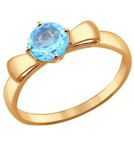 Кольцо из золота с топазом 714302
