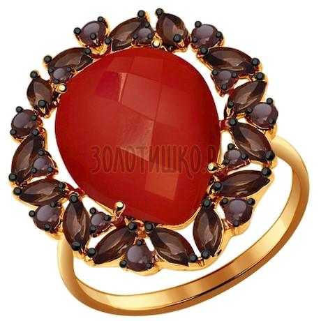 Кольцо из золота с полудрагоценными вставками 714383