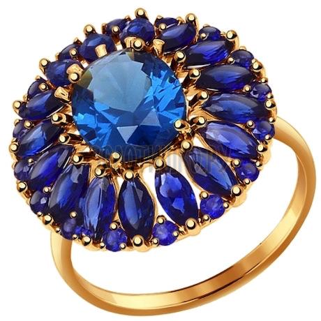 Кольцо из золота с полудрагоценными вставками 714414