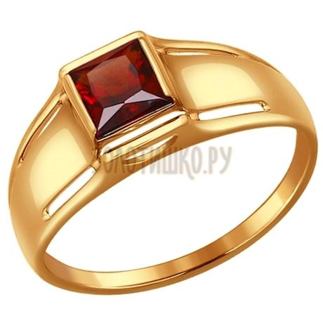 Кольцо из золота с гранатом 714473