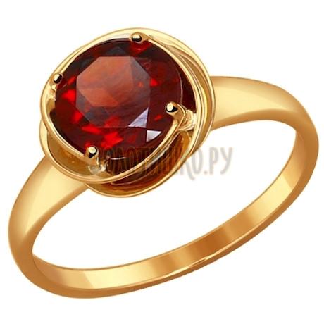 Кольцо из золота с гранатом 714508