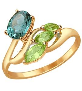 Кольцо из золота с полудрагоценными вставками 714534